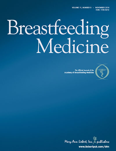 Cover for Breastfeeding Medicine | Issue List