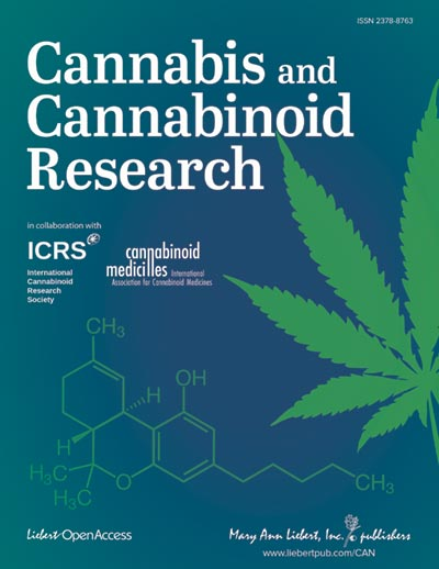 Cover for Cannabis and Cannabinoid Research